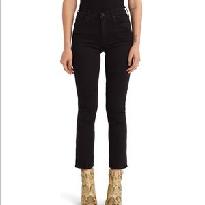 NWT MOTHER Black Jeans 24